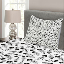 Funny Fish Bone Abstract Bedspread Set