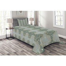 Abstract Art Floral Bedspread Set