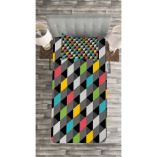 Abstract Art Style Bedspread Set
