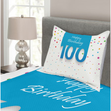 100 Years Birthday Bedspread Set