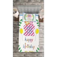 18 Birthday Bedspread Set