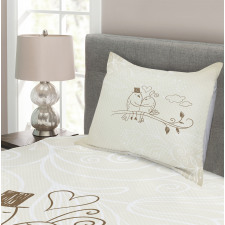 2 Birds Love Bedspread Set