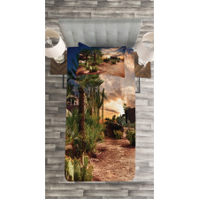 Majestic Sky Palm Trees Bedspread Set