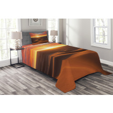 Dramatic Sunset Scenery Bedspread Set
