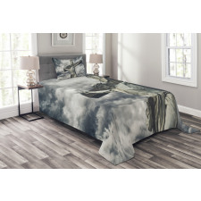 Stormy Dramatic Cloudscape Bedspread Set