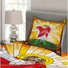 Stained Glass Design Paint Bedspread Set