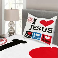 I Love Sign Heart Shape Bedspread Set