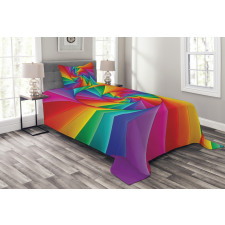 Abstract Art Vivid Swirl Bedspread Set