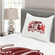 18 Wheeler Silhouette Bedspread Set