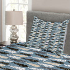 Abstract Art Silhouettes Bedspread Set