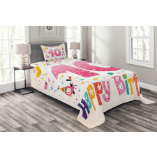 10 Years Kids Birthday Bedspread Set