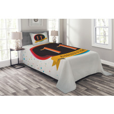 11 Year Retro Style Bedspread Set
