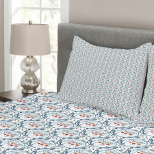 Xmas Animal Wreaths Bedspread Set