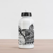 2 Animal Faces Design Aluminum Water Bottle