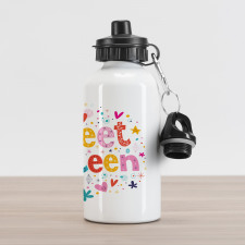 16 Blossoms Aluminum Water Bottle