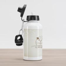 2 Birds Love Aluminum Water Bottle