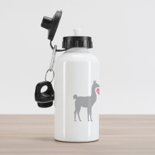 2 Animals in Love Aluminum Water Bottle