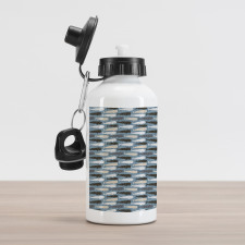 Abstract Art Silhouettes Aluminum Water Bottle