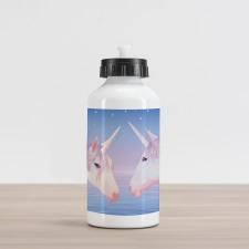 2 Akhal Teke Unicorns Aluminum Water Bottle