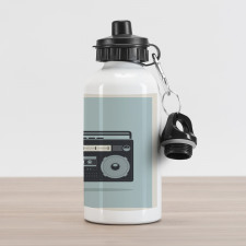 1980s Boombox Image Aluminum Water Bottle