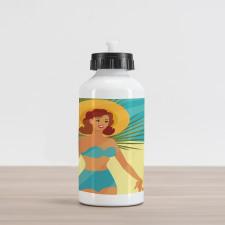 1950s Style Bikini Aluminum Water Bottle