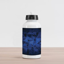 Abstract Atomic Stars Aluminum Water Bottle