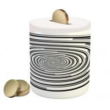 Abstract Art Spirals Piggy Bank