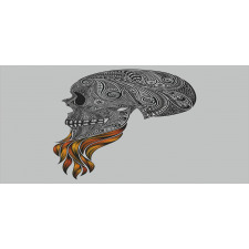 Abstract Art Skull Beard Piggy Bank