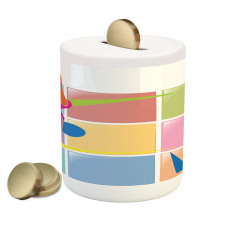 Abstract Athlete Piggy Bank