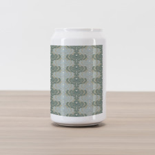 Abstract Art Floral Can Piggy Bank