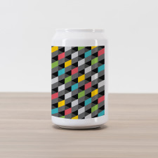 Abstract Art Style Can Piggy Bank