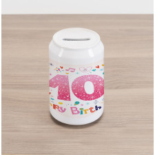 10 Years Kids Birthday Can Piggy Bank