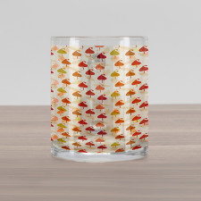 Abstract Autumn Leaf Art Glass Mug