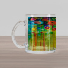 Abstract Art Dandelion Glass Mug