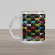 Abstract Art Style Glass Mug