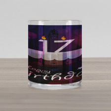 17 Party Cake Glass Mug