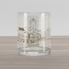2 Birds Love Glass Mug