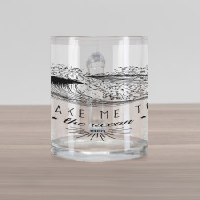 1986 Ocean Surf Waves Glass Mug