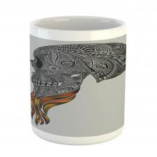 Abstract Art Skull Beard Mug