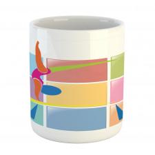 Abstract Athlete Mug