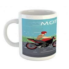 2 Bikers Racing Mug