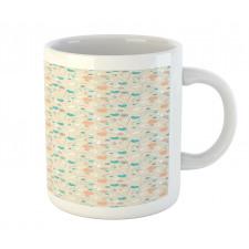 Abstract Art Floral Doodle Mug
