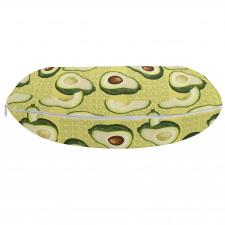 Avokado Boyun Yastığı Yazılı Arka Plan Üzerinde Sağlıklı Meyveler