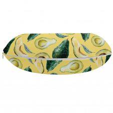 Avokado Boyun Yastığı Sulu Boya Tarzında Çizilmiş Sağlıklı Meyve
