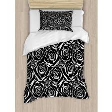 Abstract Art Rose Flowers Duvet Cover Set