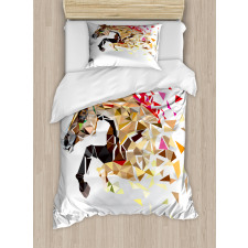 Abstract Art Wild Horse Duvet Cover Set