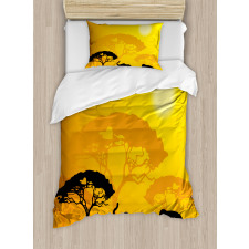 Abstract Wildlife Duvet Cover Set