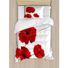 Flowers Petals and Buds Duvet Cover Set