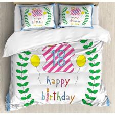 18 Birthday Duvet Cover Set