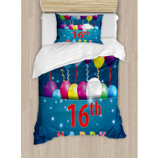 16 Party Duvet Cover Set